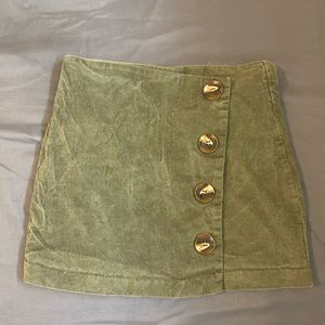 army green alter'd state skirt buttons size small